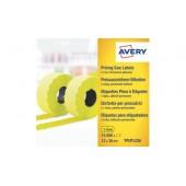 Etykiety cenowe w rolce ZF Avery 26x12 żółte,trwałe (15000) YPLP1226