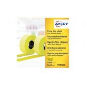 Etykiety cenowe w rolce ZF Avery 26x16 żółte,trwałe (15000) YPLP1626