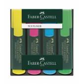 Zakreślacz FABER CASTELL Textliner 48 kpl.4 kolory w etui 154804