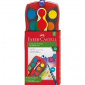 Farby szkolne FABER CASTELL Connector w kasecie 12kol. 125023