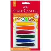 Kredki świecowe FABER CASTELL 4+6kol. 120404