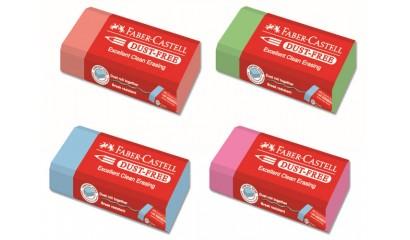 Gumka FABER CASTELL dust free mix kolor FC187125