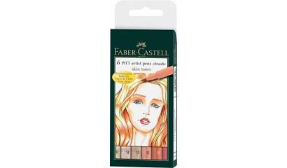 Cienkopis FABER CASTELL PITT Artist 6 kol. skin tones 167162