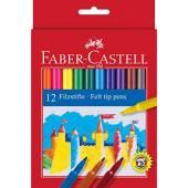 Flamastry FABER CASTELL Zamek 12 kolorów 554212FC