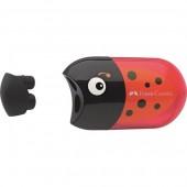 Temperówka podwójna z gumką FABER CASTELL  Biedronka 183526
