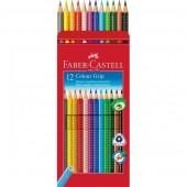 Kredki ołówkowe FABER CASTELL Grip 2001 12kol. FC112412