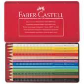 Kredki FABER CASTELL Grip 2001 12kol. metalowe opakowanie 112413