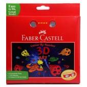Zestaw FABER – CASTELL  3D- kolorowanka + 6 pisaków connector + okulary 155081