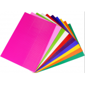 Tektura falista FOLIA 25x35cm mix kolor (10szt.) 7404-09