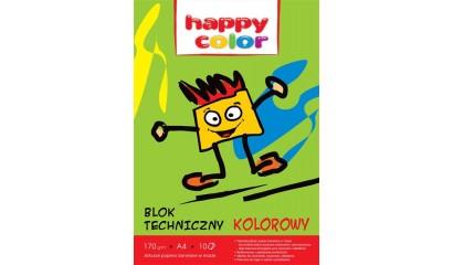 Blok techniczny HAPPY COLOR A4/10k, 170g, kolorowy