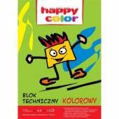 Blok techniczny HAPPY COLOR A4 / 10k, 170g, kolorowy