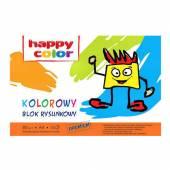 Blok rysunkowy HAPPY COLOR A4 / 15k,80g, kolor