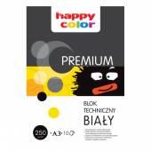 Blok techniczny HAPPY COLOR PREMIUM A3 / 10k, 250g, biały
