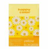 Blok HAPPY COLOR Deco Yellow A5, 170g, 20ark, 4 odcienie HA 3717 1520-012