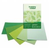 Blok HAPPY COLOR Deco Green A5, 170g, 20ark, 4 odcienie HA 3717 1520-052