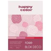 Blok HAPPY COLOR Deco Rose A5, 170g, 20ark, 4 odcienie HA 3717 1520-062