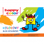 Blok rysunkowy HAPPY COLOR A3 / 15k,80g, kolor