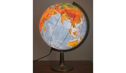 Globus polityczno-fizyczny GŁOWALA podswietlany wys 48cm śr 320mm