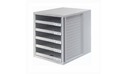 Zestaw 5 szuflad otwartych HAN Cabinet-Set A4 szary HN140111-13