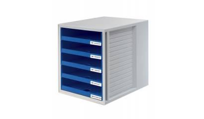 Zestaw 5 szuflad otwartych HAN Cabinet-Set A4 szaro-niebieski HN140114-10