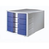 Pojemnik z szufladami HAN IMPULS  niebieski HN1010X14-10