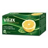 Herbata VITAX zielona/cytryna (20T)