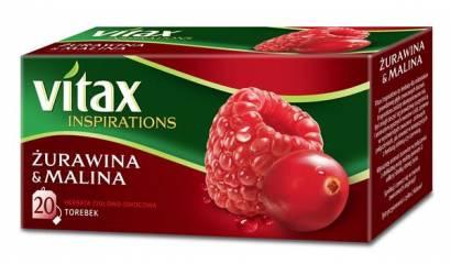 Herbata owocowa VITAX Inspirations żurawina/malina (20T)