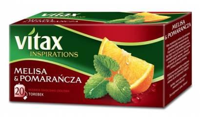 Herbata owocowa VITAX Inspirations melisa/pomarańcza (20T)