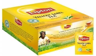 Herbata LIPTON Yellow Label (100szt) kopery pakowana pojedyńczo