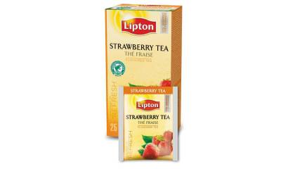 Herbata LIPTON Strawberry (25szt) w kopertach