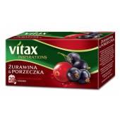 Herbata owocowa VITAX Inspirations żurawina / porzeczka (20T)