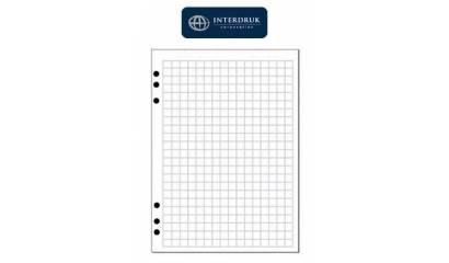 Wkład do segregatora INTERDRUK A5/100k kratka biały