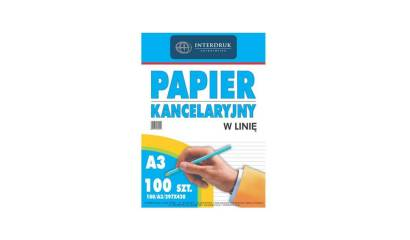 Papier podaniowy INTERDRUK A3/100k linia