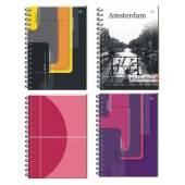 Kołozeszyt INTERDRUK B5 / 100k kratka 5  kolorów registrów