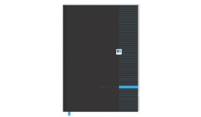 Brulion INTERDRUK Black&Blue BE.GENT A4/96k kratka z tasiemką