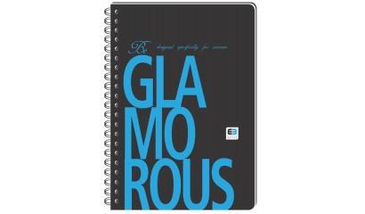 Kołozeszyt INTERDRUK Black&Blue BE.GLAMO B5/100k kratka okładka PP