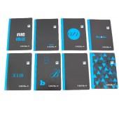 Zeszyt INTERDRUK Black&Blue A5/60k. kratka