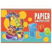 Zeszyt papierów kolorowych samoprzylepnych INTERDRUK B4 / 8k Fluo  ZEPKB4SPFL