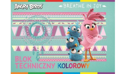Blok techniczny INTERDRUK A4/20K kolor Angry Birds Movie