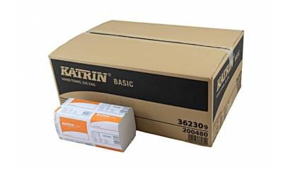 Ręcznik składany ZZ KATRIN Basic naturalny biały 1W (20x250listków) 100669