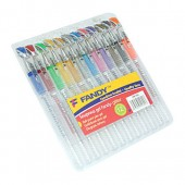 Długopis żelowy KOH-I-NOOR Fandy kpl. 12 kolorów brokat