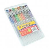 Długopis żelowy KOH-I-NOOR Fandy kpl. 8kol. brokat