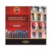 Pastele suche KOH-I-NOOR ToisonD'or 24 kolorów  8514N / 24