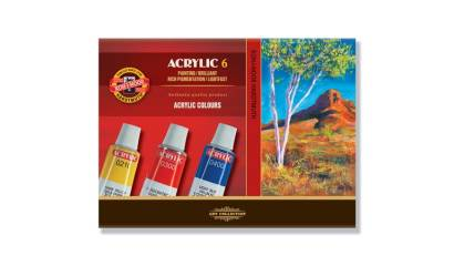 Farby akrylowe KOH-I-NOOR 16ml. 6 kolorów 162701