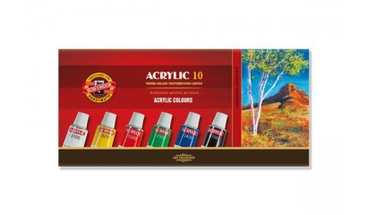 Farby akrylowe KOH-I-NOOR 16ml.10 kolorów 162703