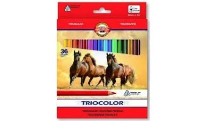 Kredki ołówkowe KOH-I-NOOR TRIOCOLOR 36kol. 3145