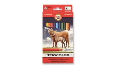 Kredki ołówkowe KOH-I-NOOR TRIOCOLOR 24kol. 3144