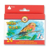 Kredki woskowe KOH-I-NOOR Trio Wax Jumbo 24 kolory  8274