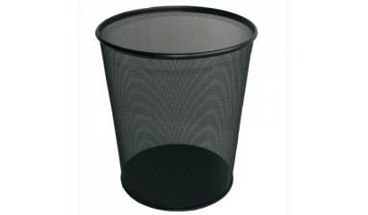 Kosz biurowy na śmieci GRAND NH-10 12l siatkowy czarny 120-1127