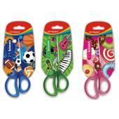 Nożyczki szkolne KEYROAD Tatto soft, 15cm, pakowane na displayu, mix kolorów